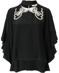 Fendi - Pearl-embellished Blouse - Lyst