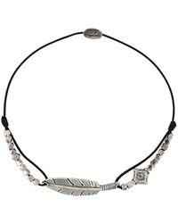Gas Bijoux Armband Met Veren - Metallic