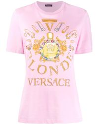 Versace プリント Tシャツ - ピンク
