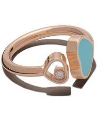 Chopard 18 Karaats Goudroze Happy Hearts Ring Met Diamant - Metallic