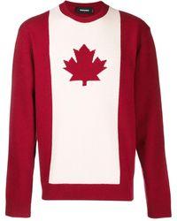 DSquared² Jersey con bandera de Canadá - Rojo
