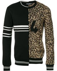 Dolce & Gabbana Dubbele Trui Met Ronde Hals - Zwart