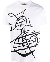Vivienne Westwood Graphic Logo Print T-shirt - White