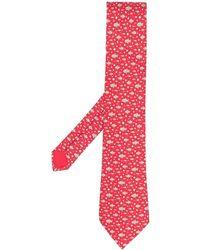 Hermès Cravate en soie à imprimé animalier pre-owned - Rouge