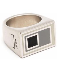 A_COLD_WALL* Logo-engraved Abstract Ring - Metallic