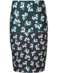 Yigal Azrouël Floral printed pencil skirt - Noir