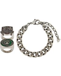 DSquared² Oversized Curb Chain Bracelet - Green