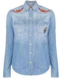 Mother Рубашка С Вышивкой - Синий