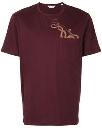Gieves & Hawkes プリント Tシャツ - レッド