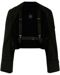Yohji Yamamoto カットアウト ジャケット - ブラック