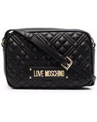 Love Moschino Стеганая Сумка Через Плечо С Логотипом - Черный