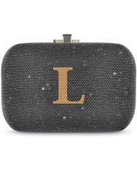 Judith Leiber Slide Lock Bag - Gray