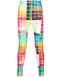 Walter Van Beirendonck Colour-block leggings - Multicolor