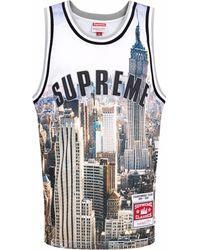 Supreme X Mitchell & Ness Basketball Shirt - White