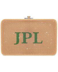 Judith Leiber Slim Slide Customizable Monogram Bag - Metallic