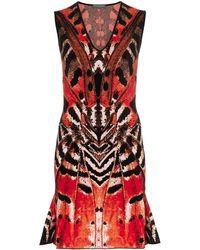 Alexander McQueen Платье Мини С Принтом - Красный