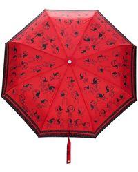 Boutique Moschino 'Snoopy' Regenschirm - Rot