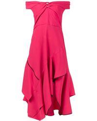 Peter Pilotto Платье С Открытыми Плечами И Вырезом Стиля Сердце - Розовый