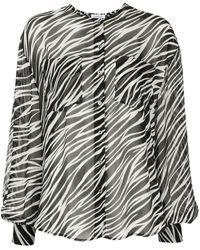 Anine Bing Блузка С Зебровым Принтом И Логотипом - Многоцветный