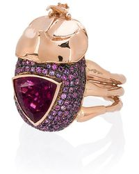 Daniela Villegas - Medium Rhino Beetle Ring - Lyst