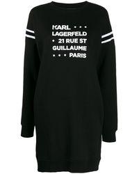 Karl Lagerfeld - プリント スウェットドレス - Lyst