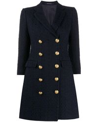 Tagliatore Double-breasted Fitted Coat - Blue