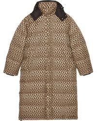 Gucci - モノグラム パデッドコート - Lyst