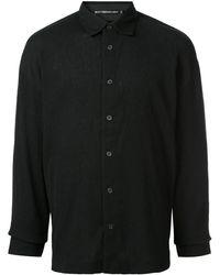 Issey Miyake Chemise à design texturé - Noir
