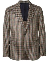 Gabriele Pasini - Checked Fitted Blazer - Lyst