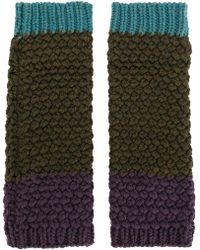Etro Knitted Gloves - Green