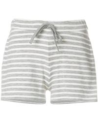 Majestic Filatures - Striped Track Shorts - Lyst