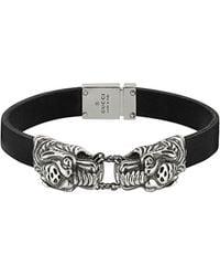 Gucci Bracelet à têtes de tigre - Noir