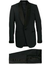Tom Ford コントラストラペル ジャケット - ブラック