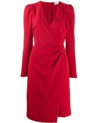 RED Valentino - Vネック ドレス - Lyst