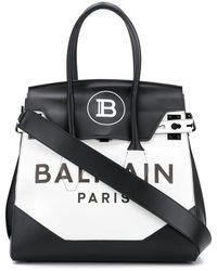 Balmain ロゴ ハンドバッグ - ホワイト