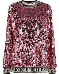 Dolce & Gabbana Толстовка С Пайетками - Розовый