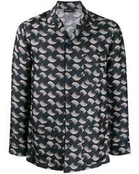 Ermenegildo Zegna Square Geometric Twirl Printed Pyjamas - Blue