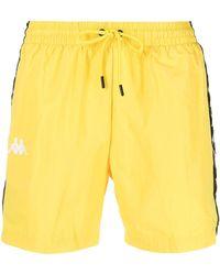 Kappa Coney Logo-band Swim Shorts - Yellow