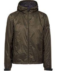 Prada - Hooded Wind Breaker Jacket - Lyst