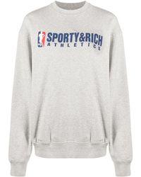 Sporty & Rich ロゴ スウェットシャツ - グレー