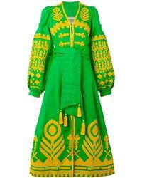 Yuliya Magdych 'cupidon Arrows' Dress - Groen