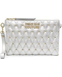 Versace Jeans Couture スタッズ クラッチバッグ - グレー