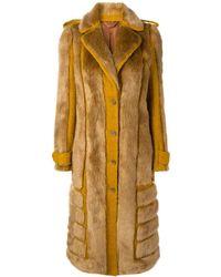 Acne Studios Faux Fur Coat - Orange