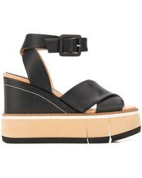 Paloma Barceló Eillen Wedge Sandals - Black