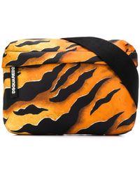 DSquared² Поясная Сумка С Тигровым Принтом - Оранжевый