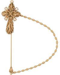Dolce & Gabbana - Brosche mit Kreuz - Lyst
