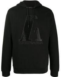 Emporio Armani - Худи С Декорированным Логотипом - Lyst