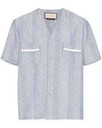 PREVU Eden Striped Shirt - Blue