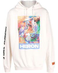 Heron Preston プリント パーカー - ホワイト