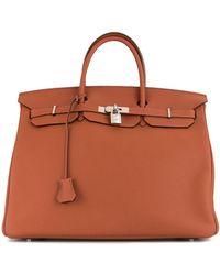 Hermès Borsa tote Birkin 40 Pre-owned - Marrone